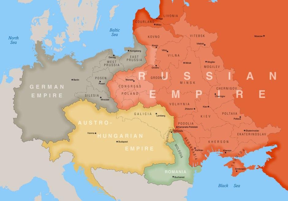 poland 1900 map
