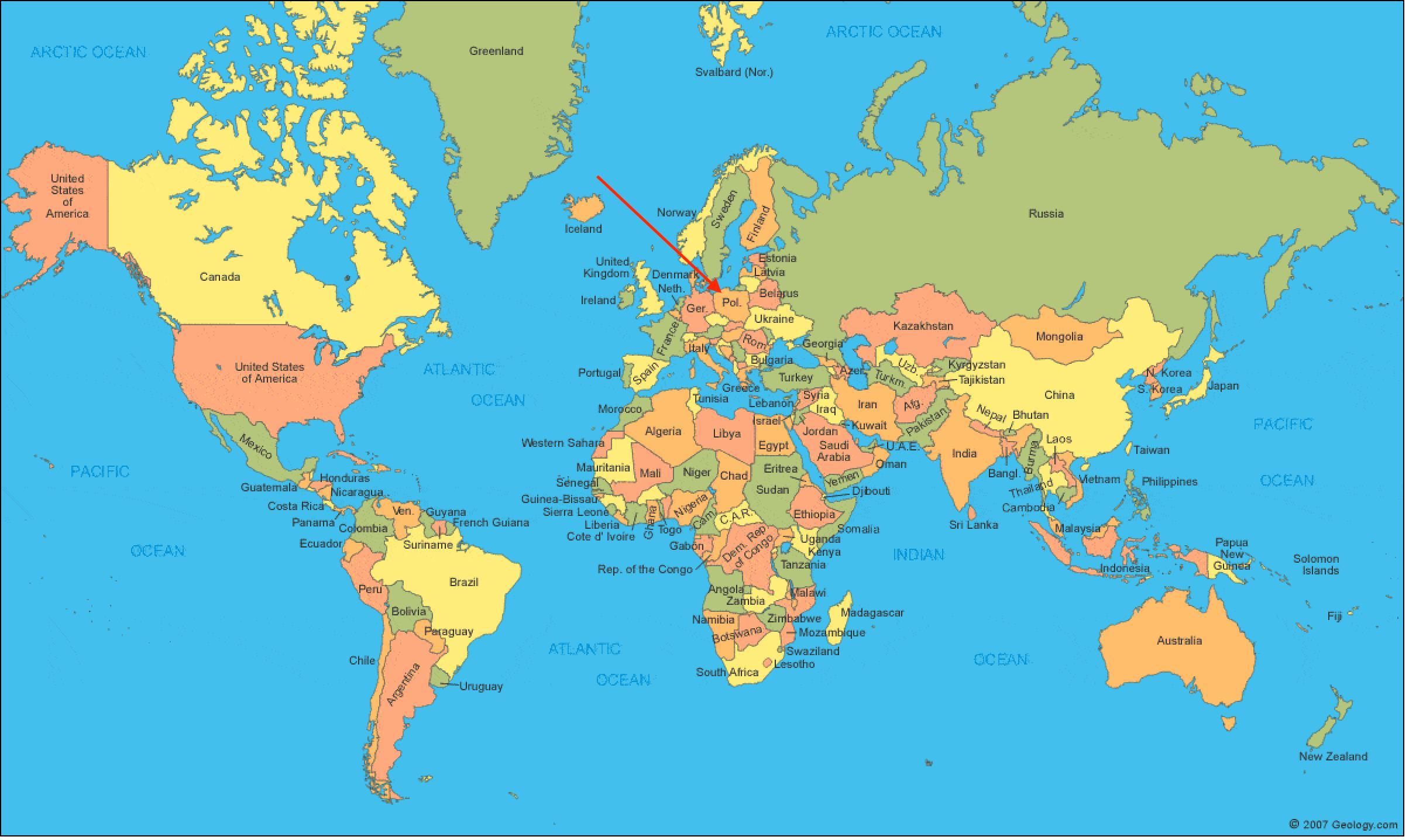 Poland on world map world map showing poland eastern europe europe world map showing poland gumiabroncs Choice Image