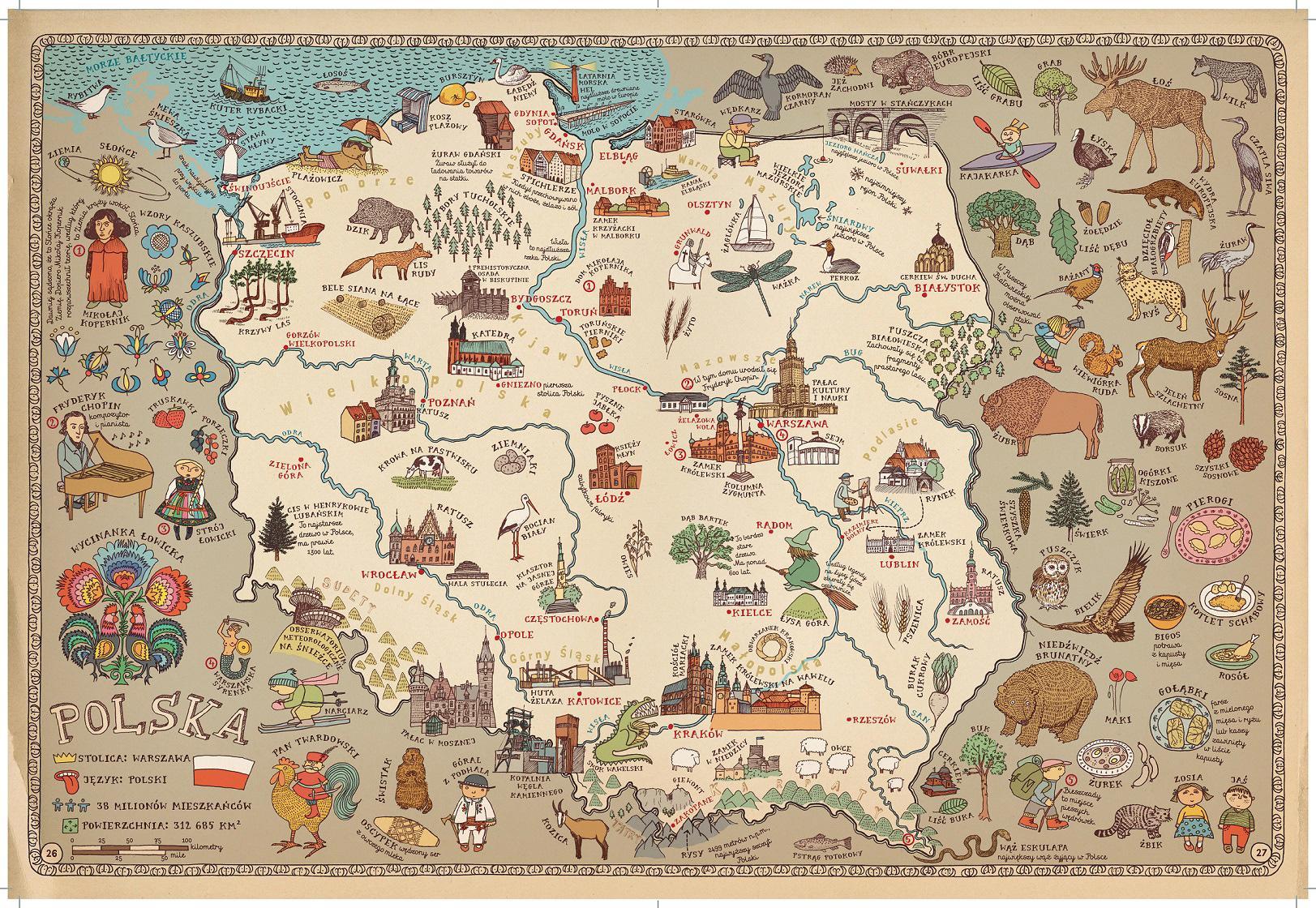 Poland tourist map Map of Poland tourist Eastern Europe Europe