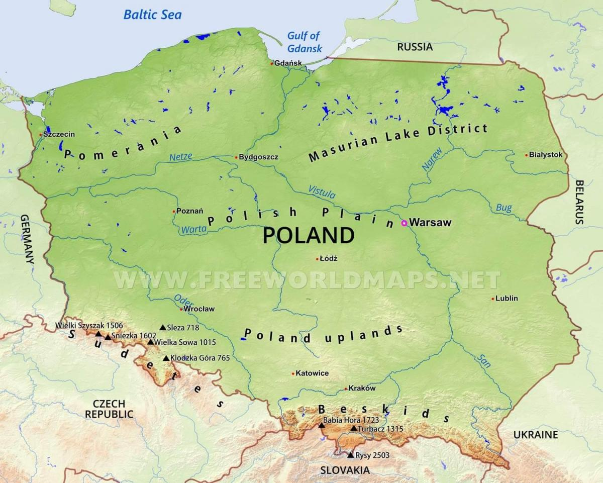 map of Poland geography