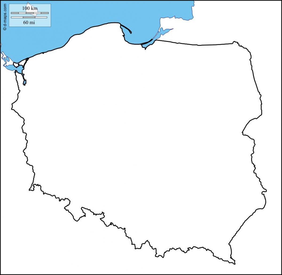 map of Poland outline