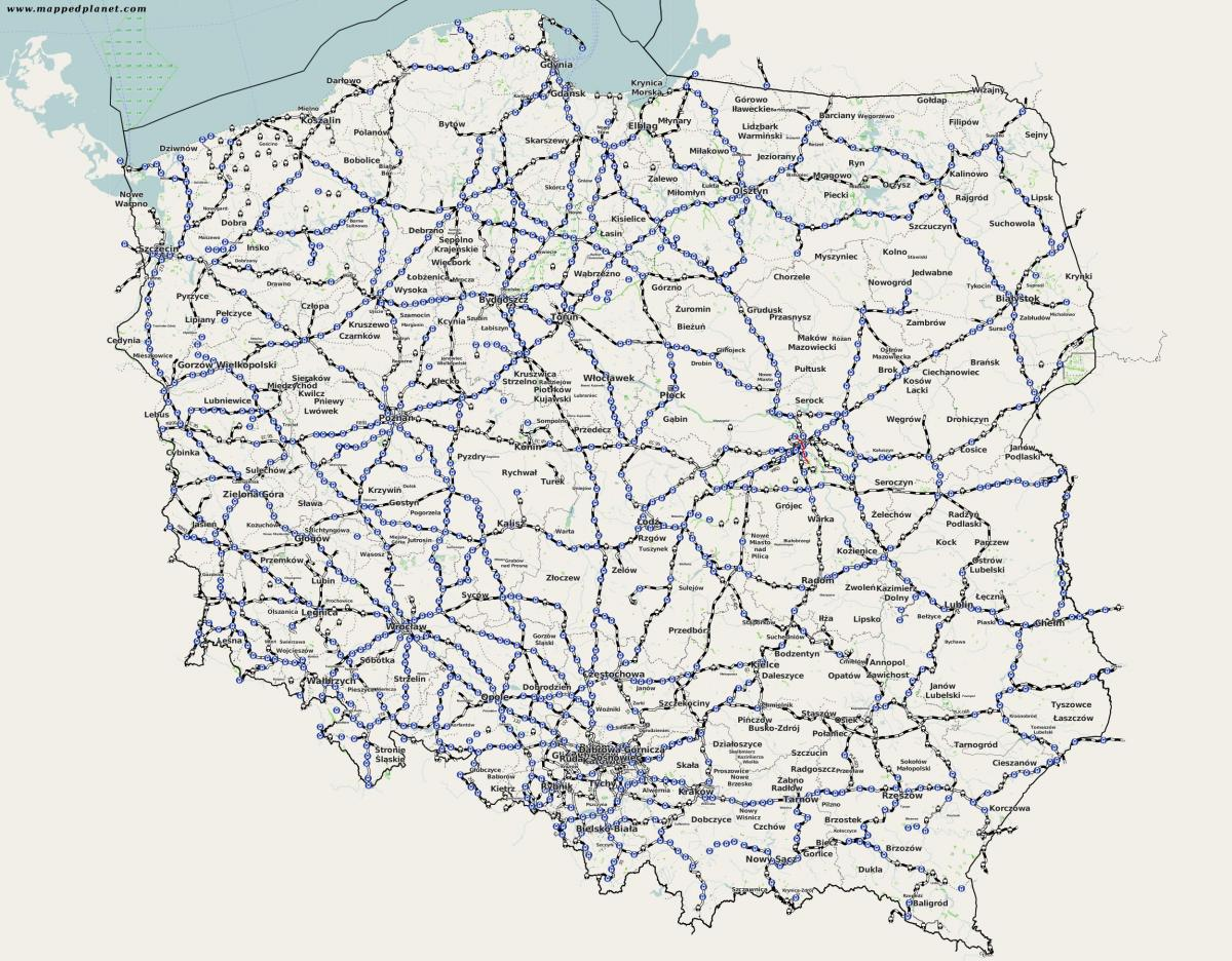 Poland train map