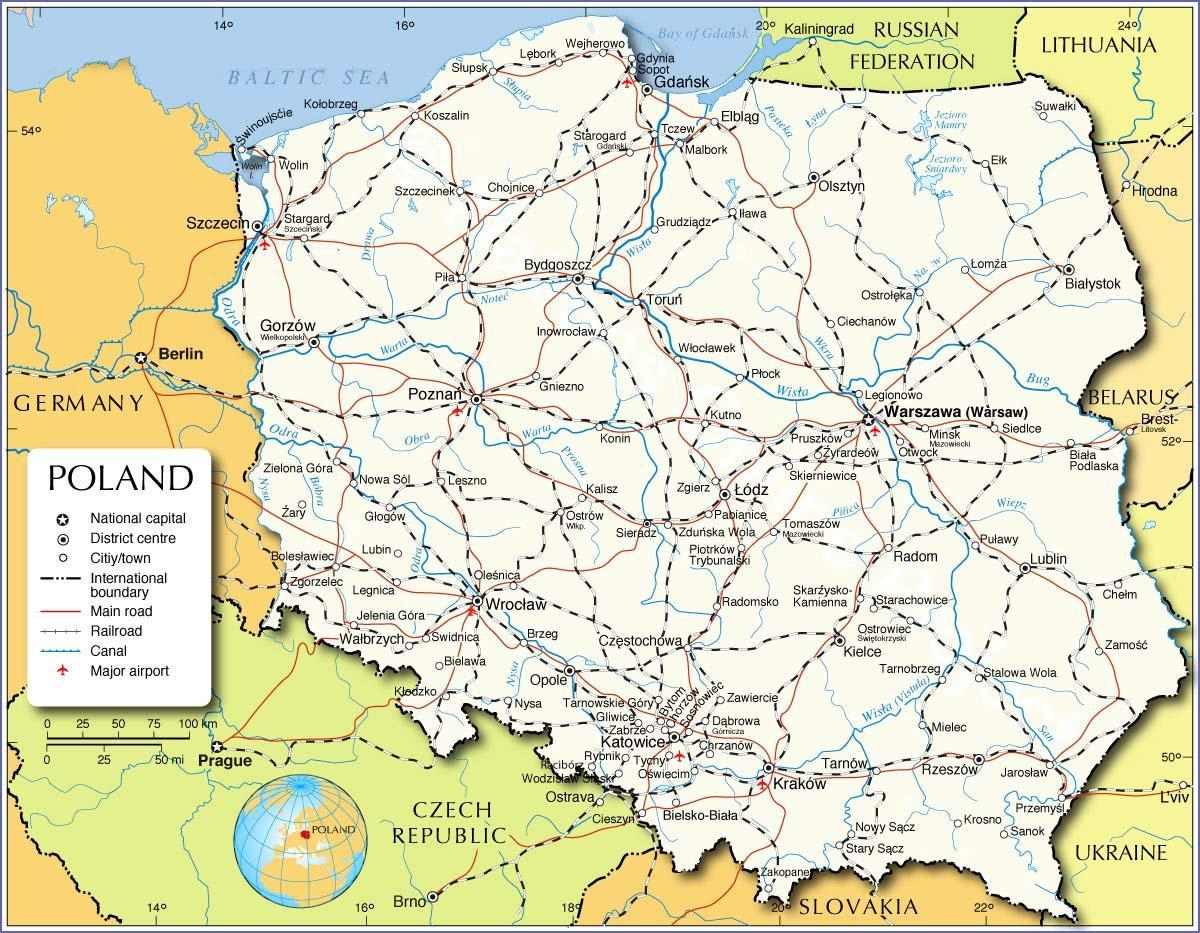 Hilaire image inside printable map of poland
