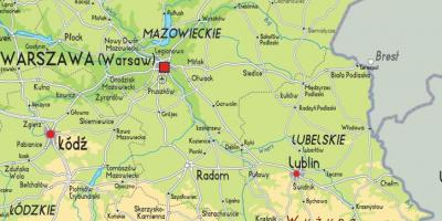Map eastern Poland