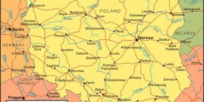 Map of Poland borders